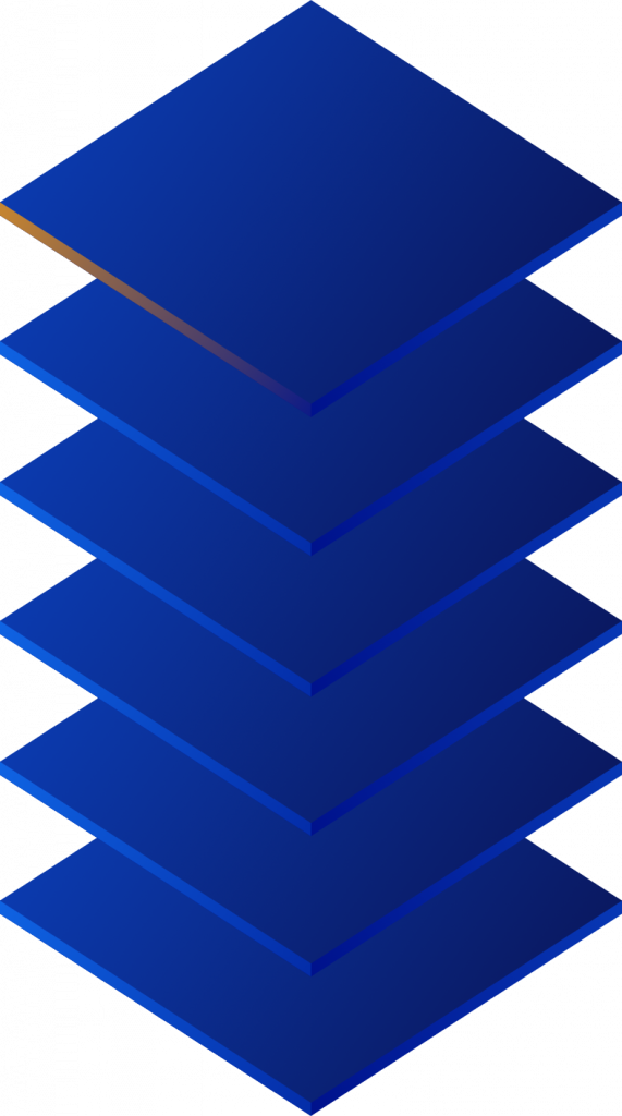 stylized 3D stack of squares