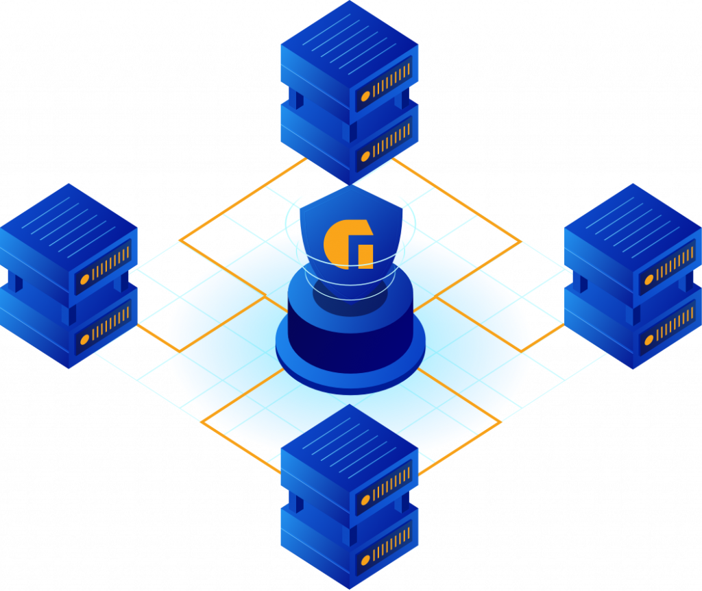 stylized server infrastructure