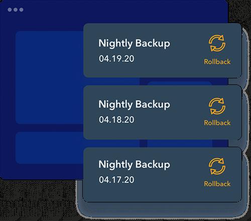 stylized view of backup list